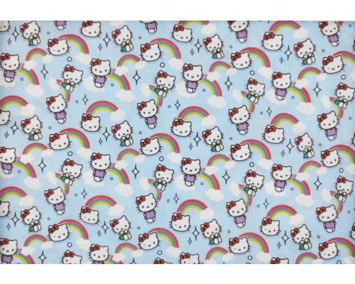 Licencia Hello Kitty fondo azul